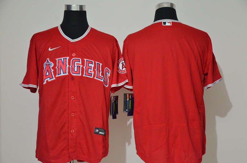 Men's Los Angeles Angels Blank Red Stitched MLB Flex Base Nike Jersey