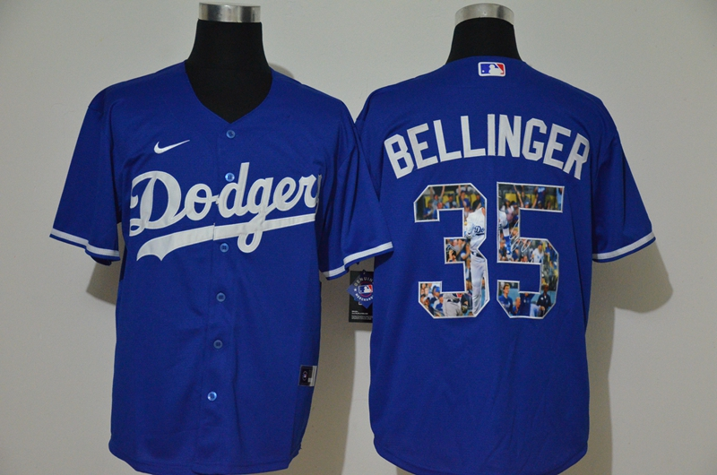 Men's Los Angeles Dodgers #35 Cody Bellinger Blue Unforgettable Moment Stitched Fashion MLB Cool Base Nike Jersey