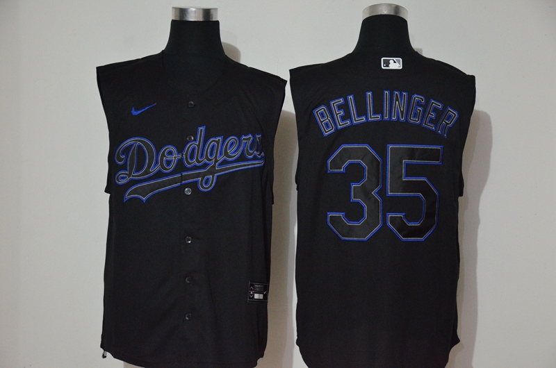 Men's Los Angeles Dodgers #35 Cody Bellinger Lights Out Black Fashion 2020 Cool and Refreshing Sleeveless Fan Stitched MLB Nike Jersey