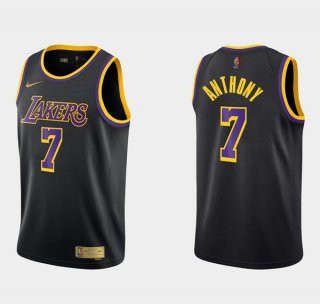 Men's Los Angeles Lakers #7 Carmelo Anthony Balck Earned Edition Stitched Basketball Jersey