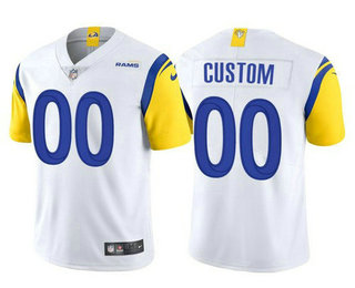 Men's Los Angeles Rams Active Player Custom 2021 White Vapor Untouchable Limited Alternate Stitched NFL Jersey