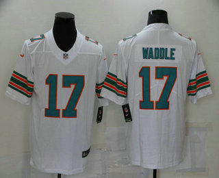Men's Miami Dolphins #17 Jaylen Waddle White 2020 Color Rush Stitched NFL Nike Limited Jersey
