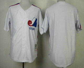 Men's Montreal Expos Blank 1982 White Mitchell & Ness Throwback Jersey
