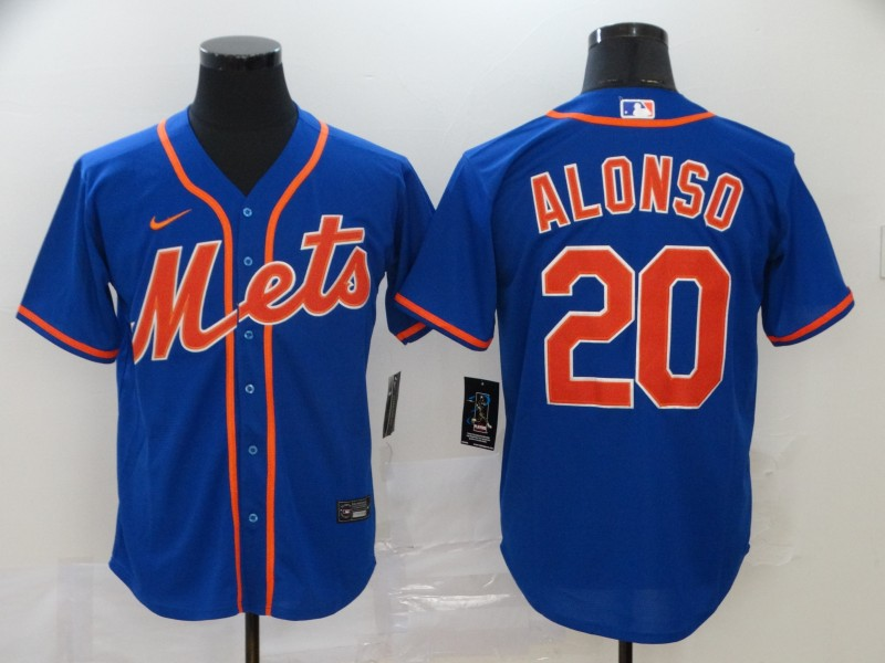 Men's New York Mets #20 Pete Alonso Blue Stitched MLB Cool Base Nike Jersey