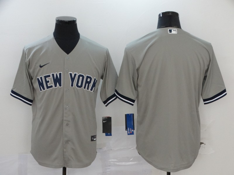 Men's New York Yankees Blank Gray Stitched MLB Cool Base Nike Jersey