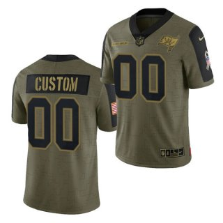 Men's Olive Tampa Bay Buccaneers ACTIVE PLAYER Custom 2021 Salute To Service Limited Stitched Jersey