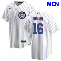 Men's Patrick Wisdom Chicago Cubs #16 Home white Jersey by Nike