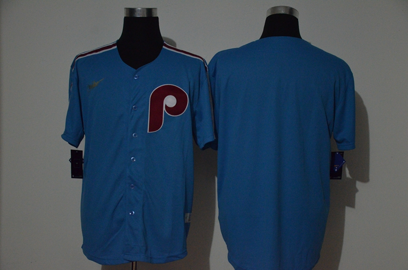 Men's Philadelphia Phillies Blank Light Blue Cooperstown Collection Stitched MLB Nike Jersey