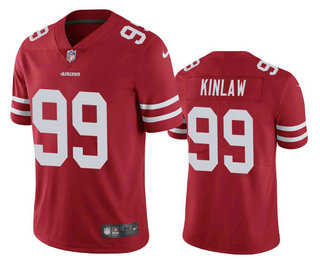Men's San Francisco 49ers #99 Javon Kinlaw Red 2020 Vapor Untouchable Stitched NFL Nike Limited Jersey