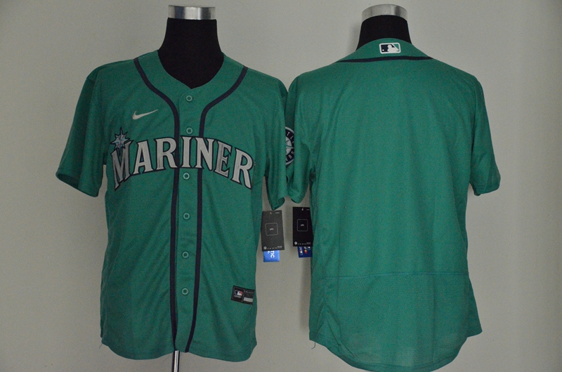 Men's Seattle Mariners Blank Teal Green Stitched MLB Flex Base Nike Jersey