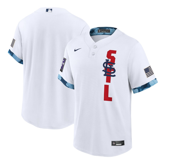Men's St. Louis Cardinals Blank 2021 White All-Star Cool Base Stitched MLB Jersey