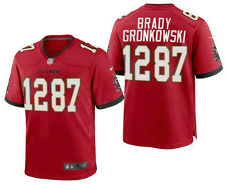 Men's Tampa Bay Buccaneers #12 Tom Brady #87 Rob Gronkowski CP Player Red Vapor Untouchable Stitched Nike Limited NFL Jersey