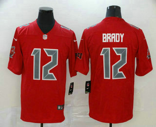 Men's Tampa Bay Buccaneers #12 Tom Brady Red 2020 Color Rush Fashion NFL Nike Limited Jersey