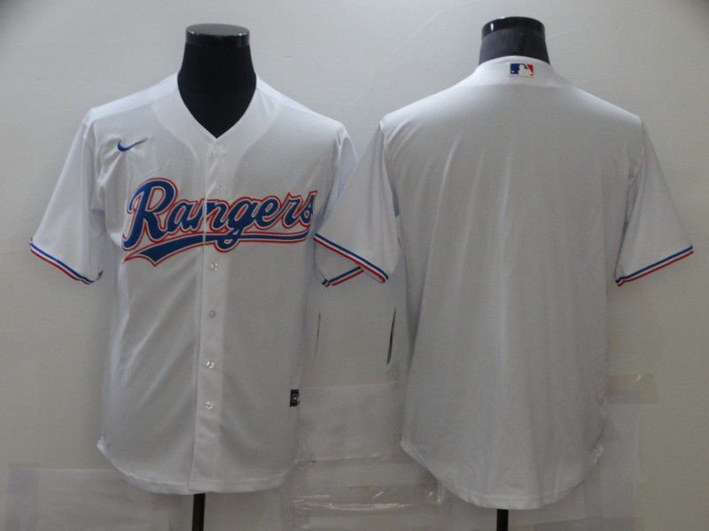 Men's Texas Rangers Blank White Stitched MLB Cool Base Nike Jersey