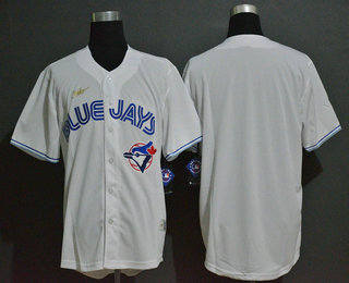 Men's Toronto Blue Jays Blank White Throwback Cooperstown Stitched MLB Cool Base Nike Jersey