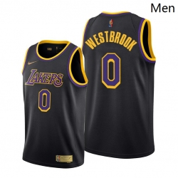 Men Lakers Russell Westbrook 2021 trade black earned edition jersey