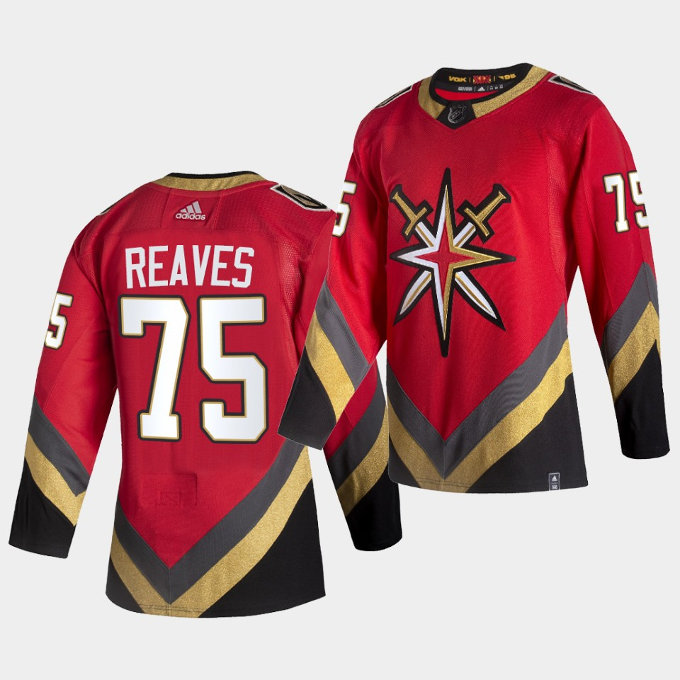 Men Vegas Golden Knights Ryan Reaves Reverse Retro Red Fourth Authentic 2020-21 Jersey