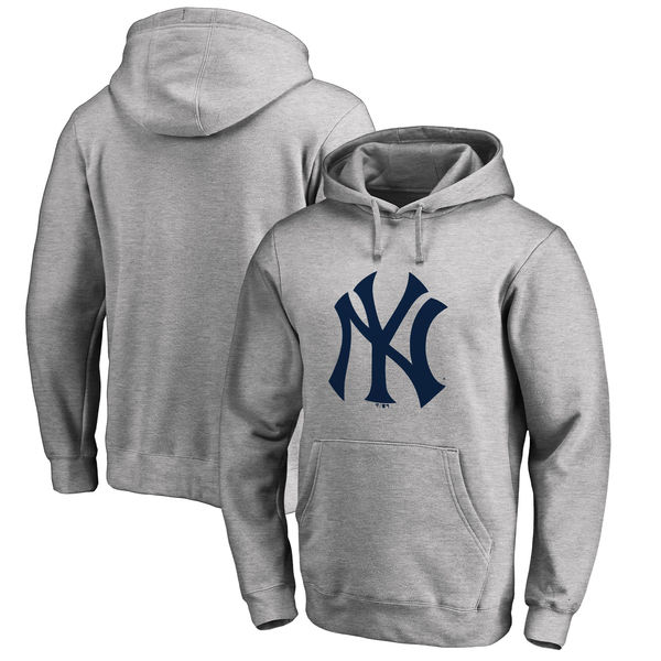New York Yankees Big & Tall Primary Logo Pullover Hoodie Ash