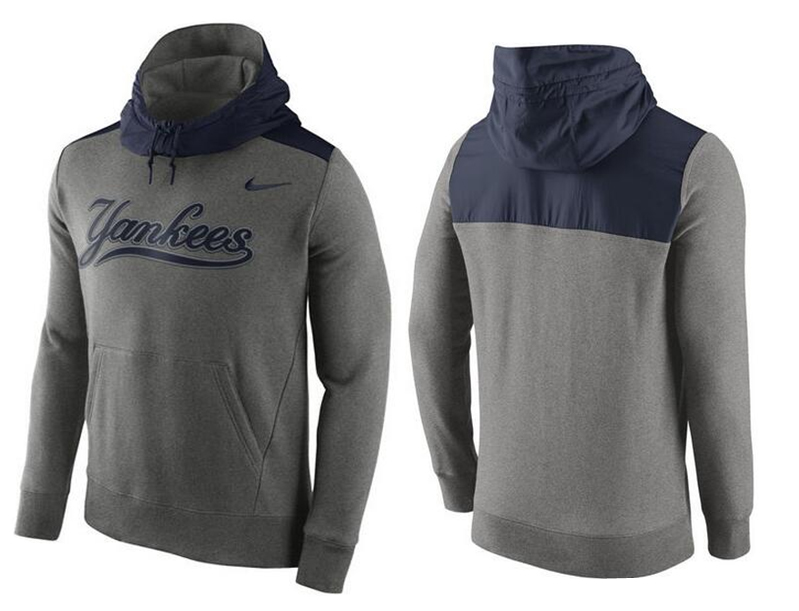 Nike New York Yankees Grey Cooperstown Collection Hybrid Pullover Hoodie