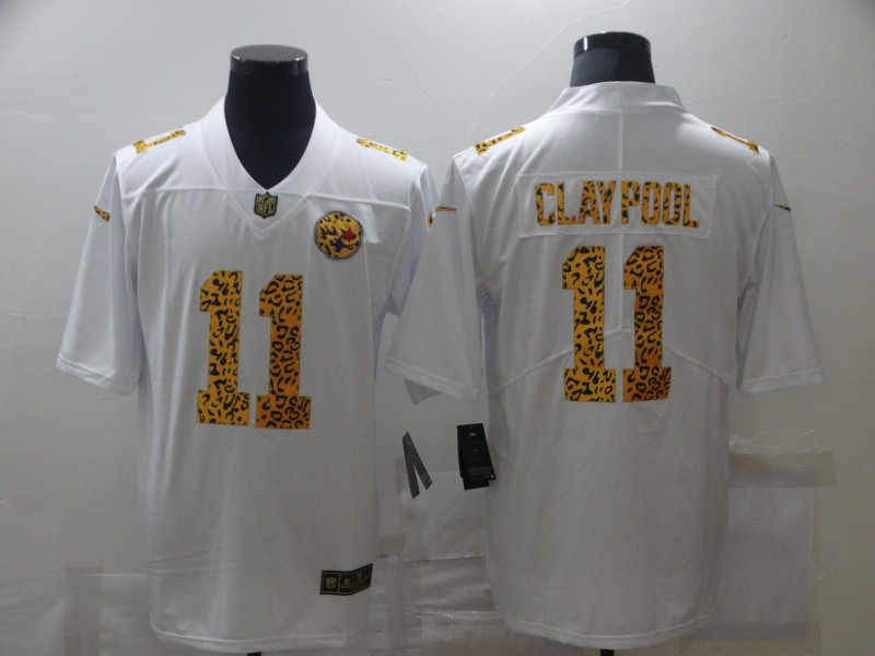 Nike Steelers 11 Chase Claypool White Leopard Vapor Untouchable Limited Jersey