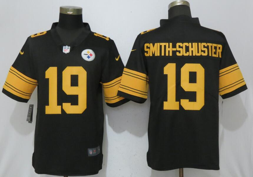 Nike Steelers 19 JuJu Smith-Schuster Black Youth Color Rush Limited Jersey