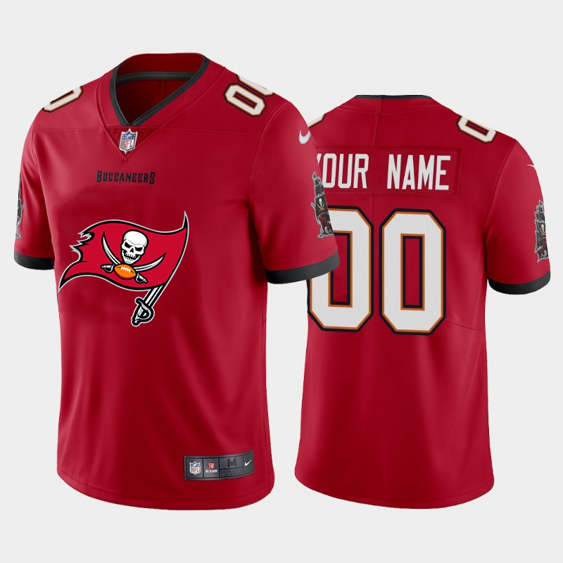 Nike Tampa Bay Buccaneers Customized Red Team Big Logo Vapor Untouchable Limited Jersey