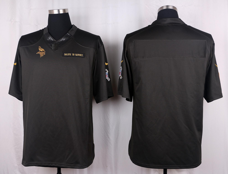 Nike Vikings Blank Anthracite Salute To Service Limited Jersey