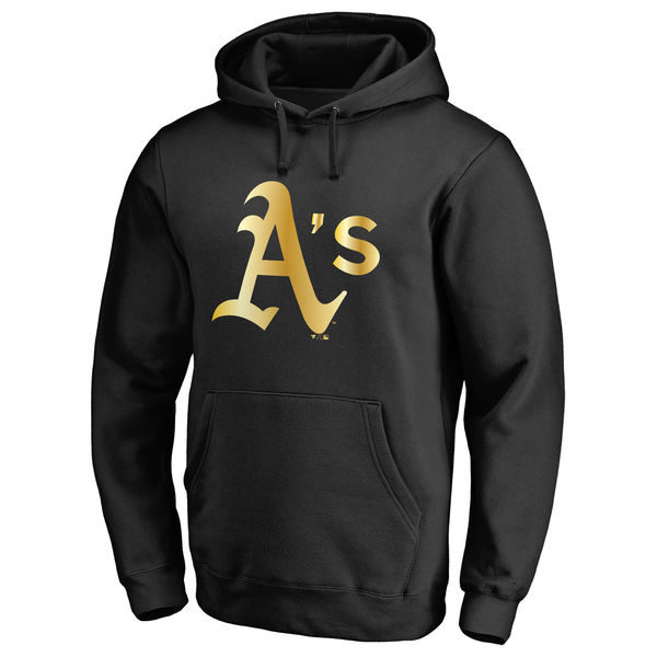 Oakland Athletics Gold Collection Pullover Hoodie Black