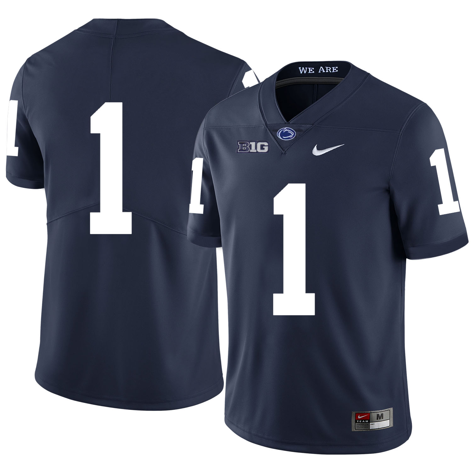 Penn State Nittany Lions 1 Christian Campbell Navy Nike College Football Jersey