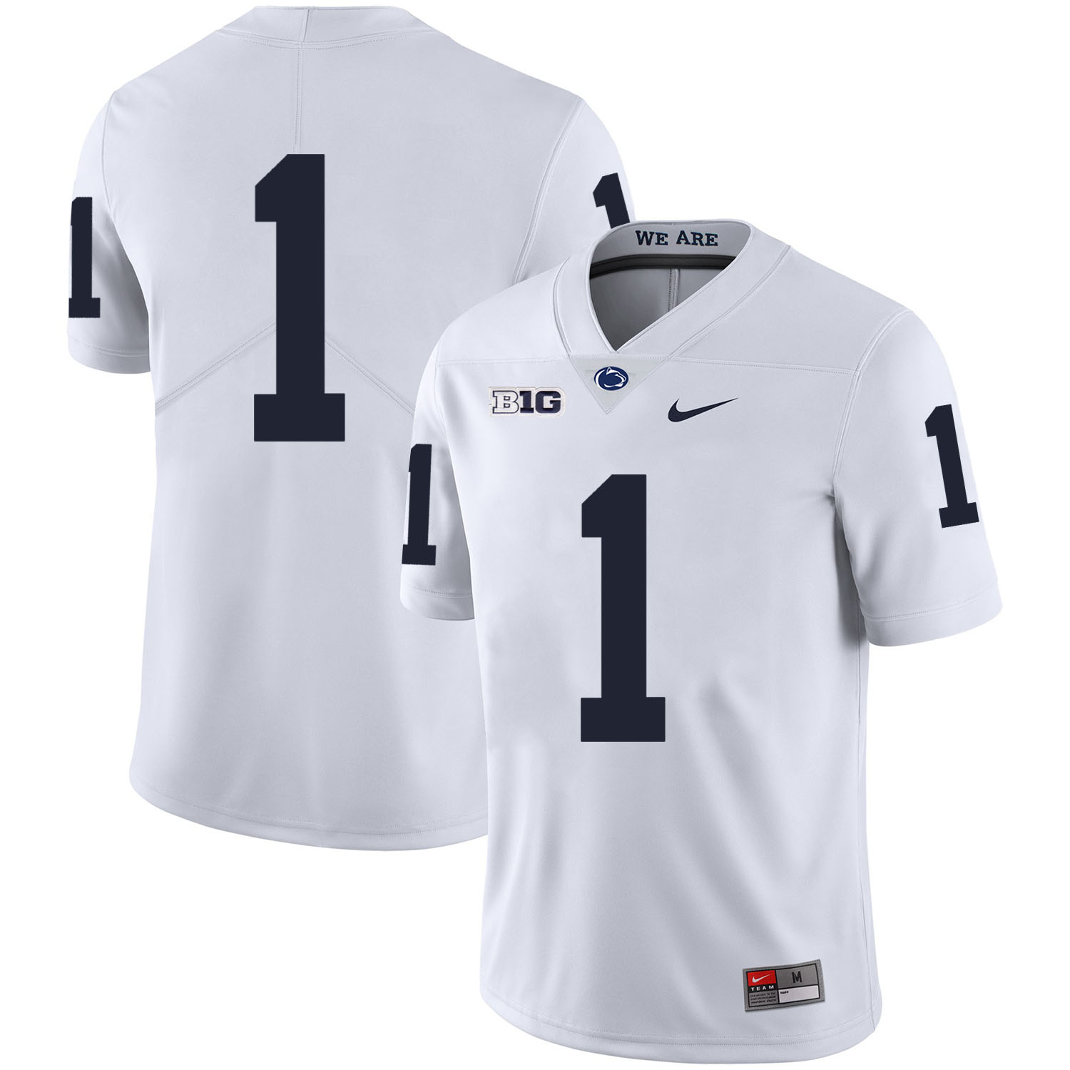 Penn State Nittany Lions 1 Christian Campbell White Nike College Football Jerseyw