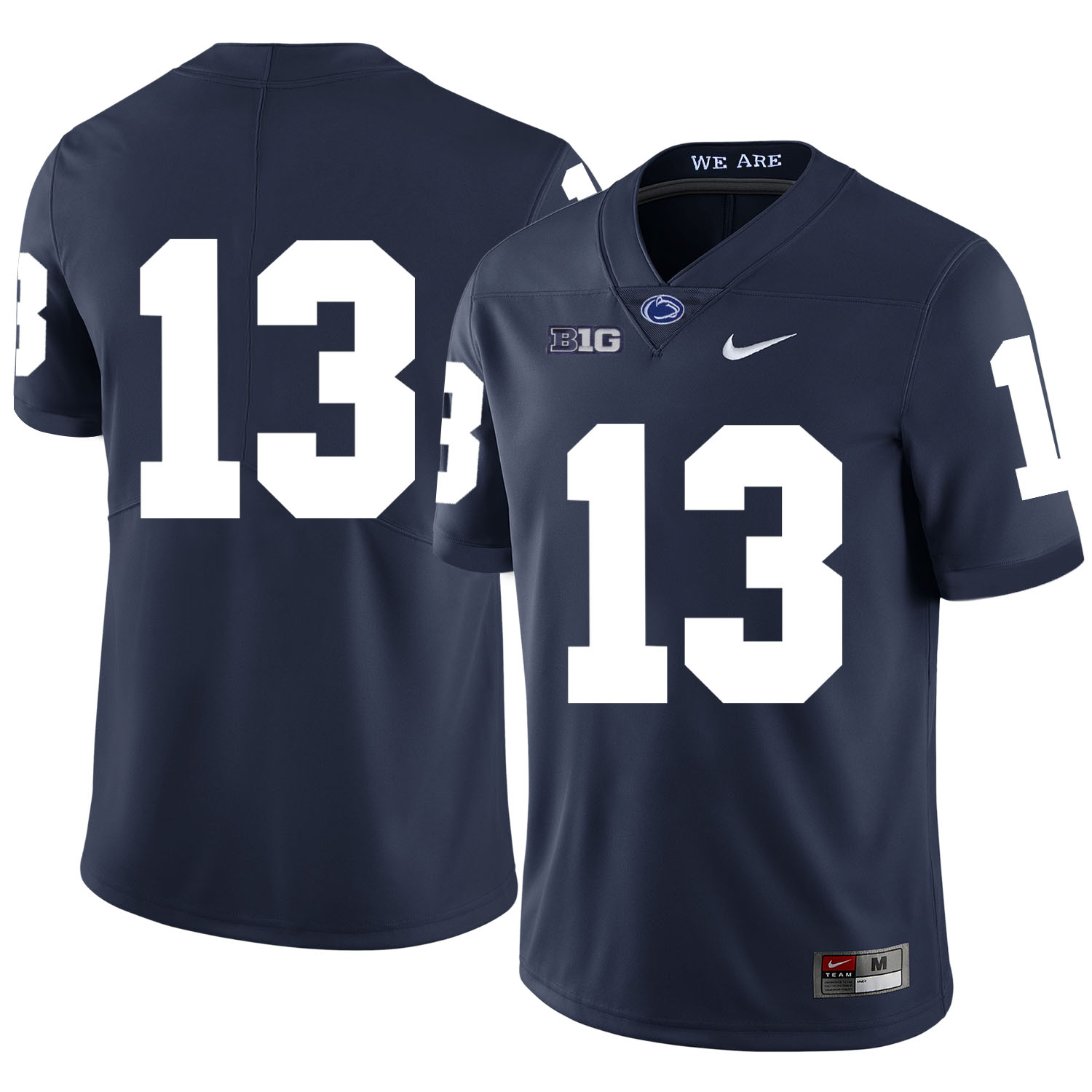 Penn State Nittany Lions 13 Saeed Blacknall Navy Nike College Football Jersey
