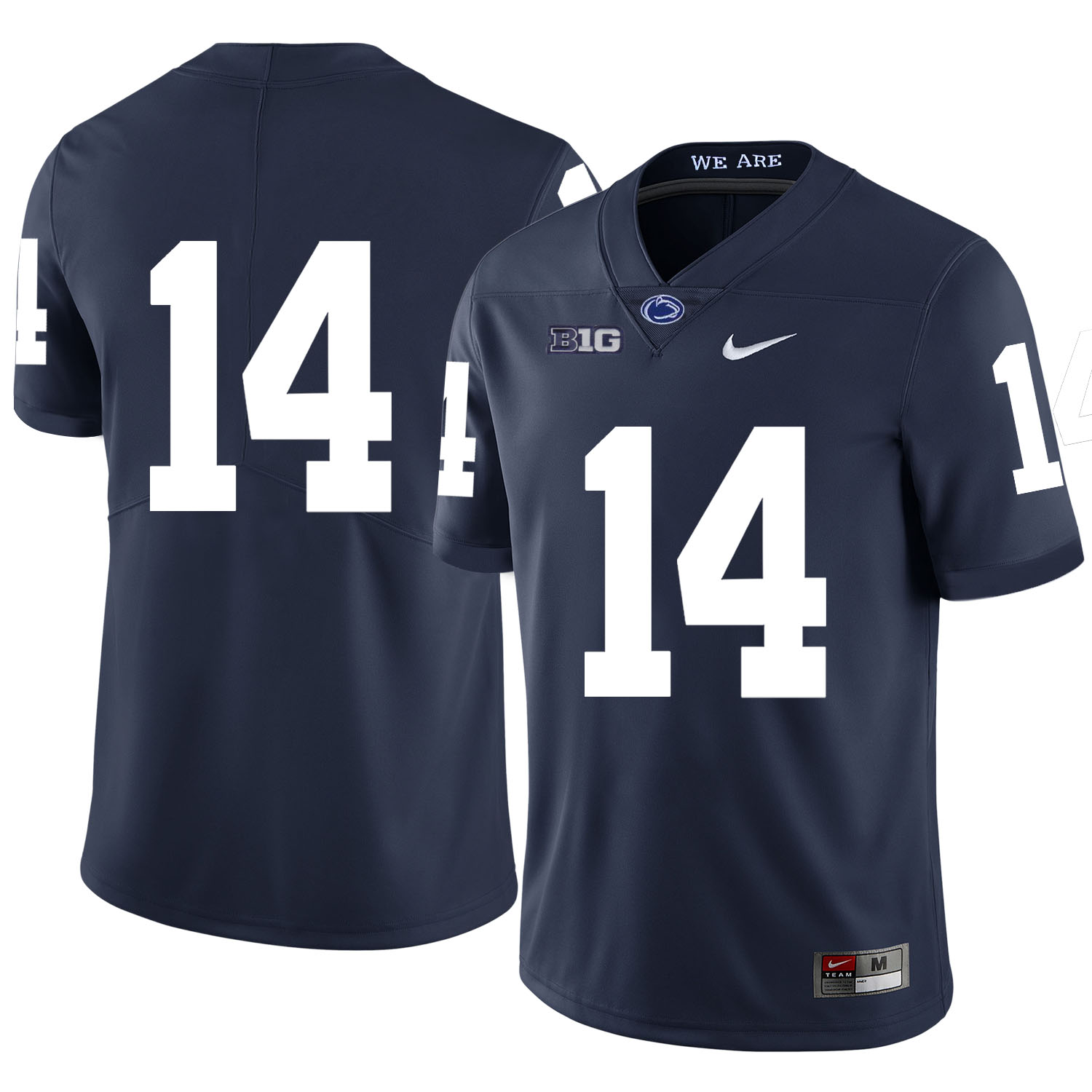 Penn State Nittany Lions 14 Christian Hackenberg Navy Nike College Football Jersey