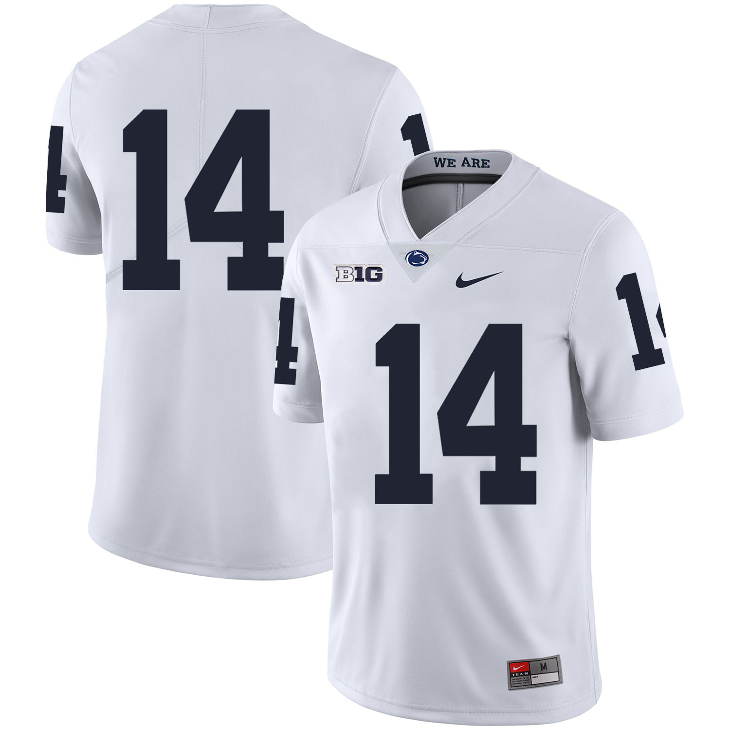 Penn State Nittany Lions 14 Christian Hackenberg White Nike College Football Jersey