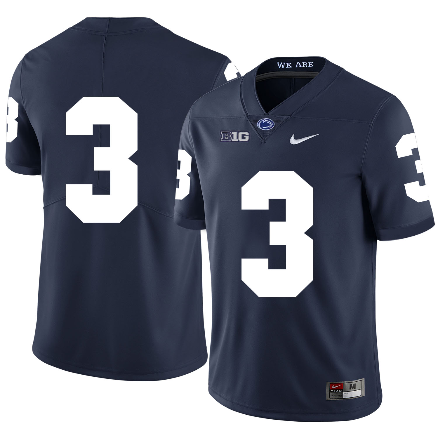 Penn State Nittany Lions 3 DeAndre Thompkins Navy Nike College Football Jersey
