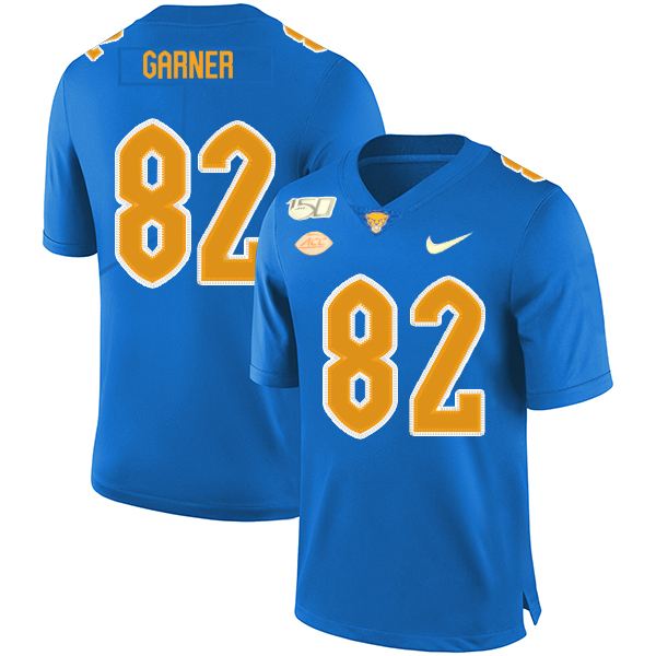 Pittsburgh Panthers 82 Manasseh Garner Blue 150th Anniversary Patch Nike College Football Jersey