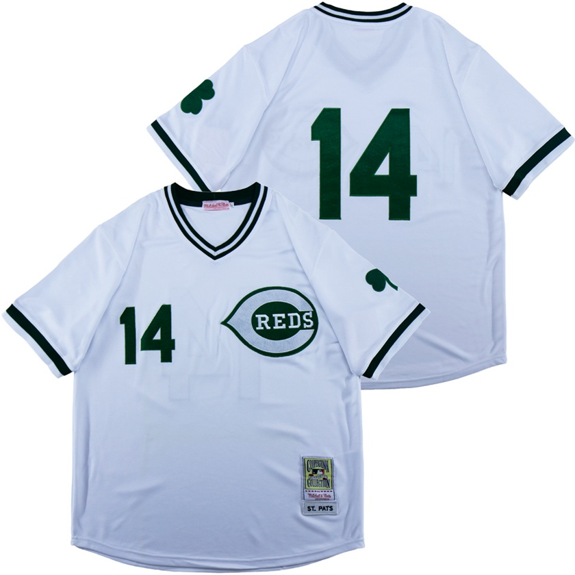 Reds 14 White St. Patrick's Day Jersey
