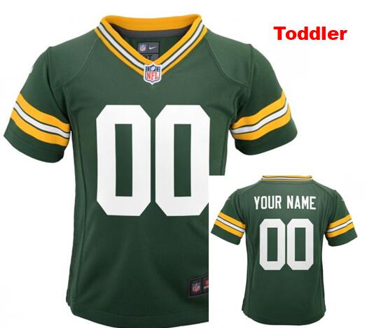Toddler Green Bay Packers baby Custom Home Game Jersey