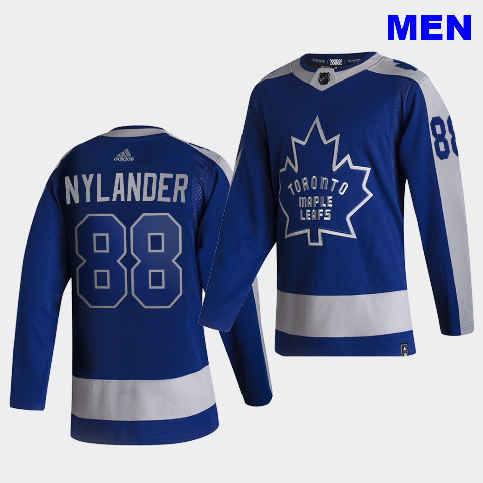 Toronto Maple Leafs #88 William Nylander 2021 Reverse Retro Blue Special Edition Authentic Jersey