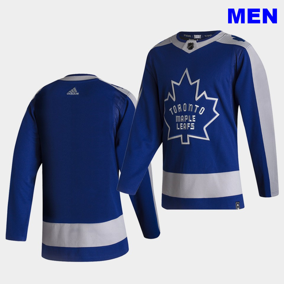 Toronto Maple Leafs Blank 2021 Reverse Retro Blue Special Edition Authentic Jersey