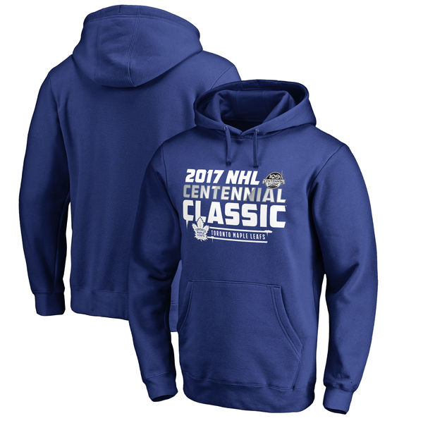 Toronto Maple Leafs Fanatics Branded 2017 Centennial Classic Ice Cold Pullover Hoodie Royal