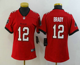 Women's Tampa Bay Buccaneers #12 Tom Brady Red 2020 NEW Vapor Untouchable Stitched NFL Nike Limited Jersey