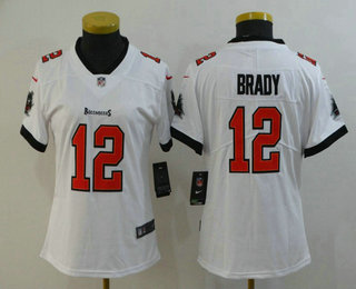 Women's Tampa Bay Buccaneers #12 Tom Brady White 2020 NEW Vapor Untouchable Stitched NFL Nike Limited Jersey