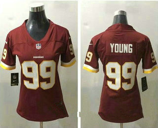 Women's Washington Redskins #99 Chase Young Red 2020 NEW Vapor Untouchable Stitched NFL Nike Limited Jersey