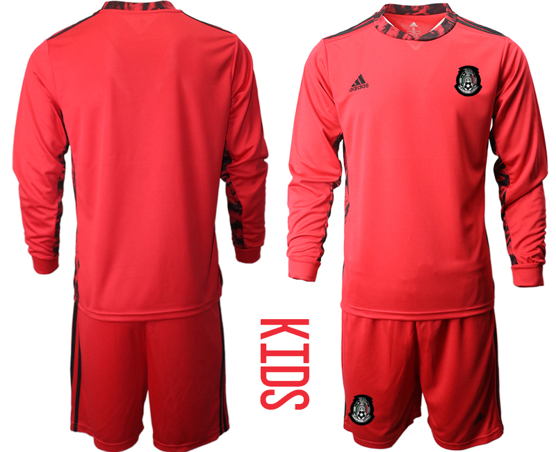 Youth 2020-21 Mexico red goalkeeper long sleeve soccer jerseys