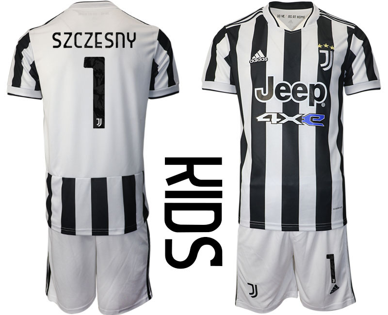 Youth 2021-2022 Club Juventus home white 1 Adidas Soccer Jersey