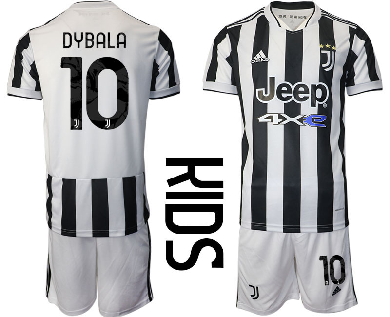 Youth 2021-2022 Club Juventus home white 10 Adidas Soccer Jersey