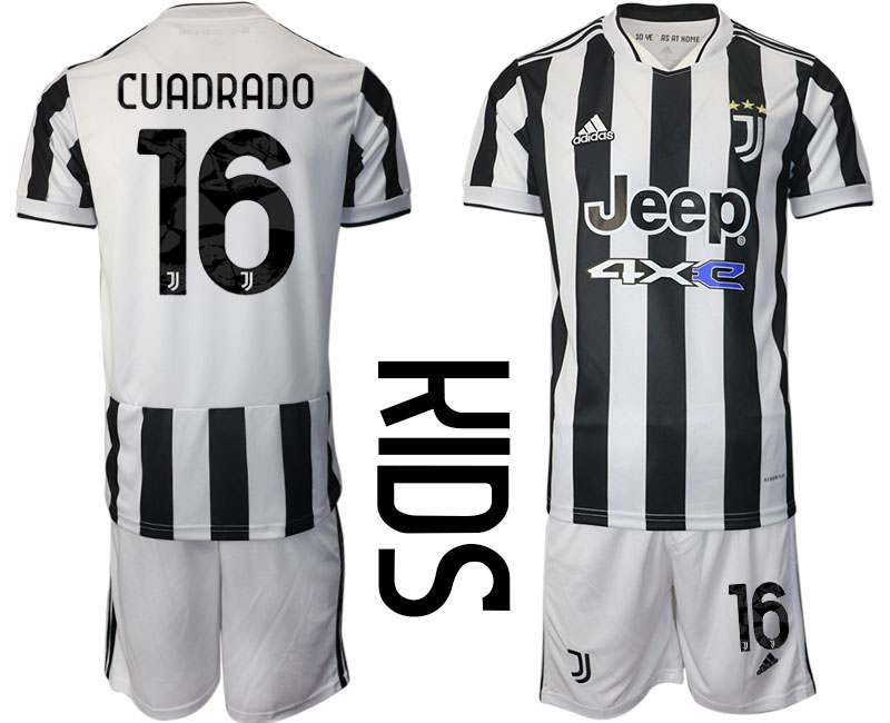Youth 2021-2022 Club Juventus home white 16 Adidas Soccer Jersey