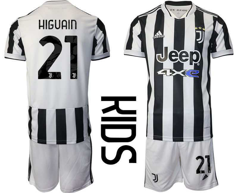 Youth 2021-2022 Club Juventus home white 21 Adidas Soccer Jersey