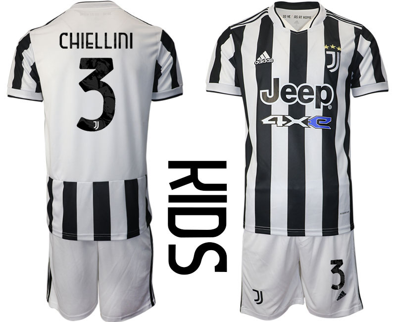 Youth 2021-2022 Club Juventus home white 3 Adidas Soccer Jersey