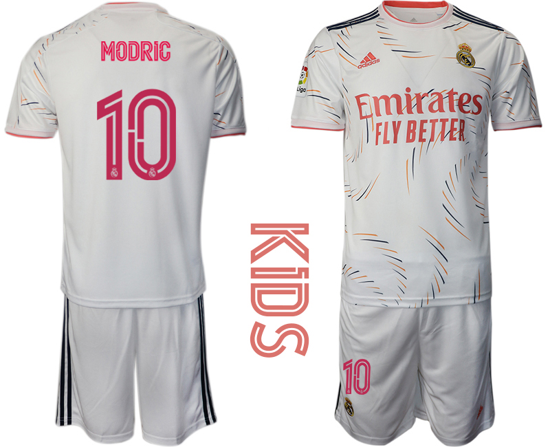 Youth 2021-22 Real Madrid home 10# MODRIC soccer jerseys